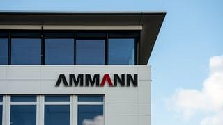 Ammann-Gruppe streicht 130 Stellen