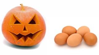 An Halloween sind Eier Munition