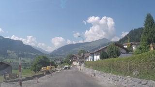 Plazzal da la via chantunala a Schluein è in grond impediment