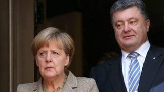 Merkel verspricht Wiederaufbauhilfe für Ostukraine