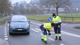 Aarau: Fussgänger bei Unfall schwer verletzt