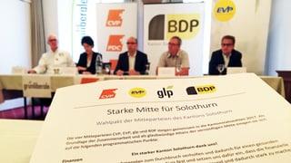 Solothurner Mitte-Parteien beschliessen Wahl-Pakt