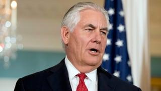 US-Aussenminister Tillerson bringt zweites Abkommen ins Spiel