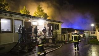 «Menschliche Ursache» bei Brand in Freiburger Asylunterkunft