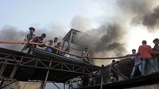 Sechs Tote nach Brand in Textilfabrik