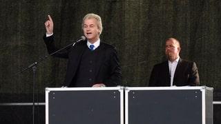 Wilders spricht an Pegida-Demo – und wenige hören zu
