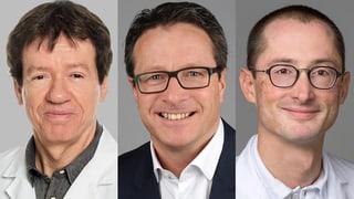 Prof. Kurt Lippuner, Prof. Christian Meier und Dr. Lukas Wildi haben Publikumsfragen zu Prolia und Osteoporose beantwortet.
