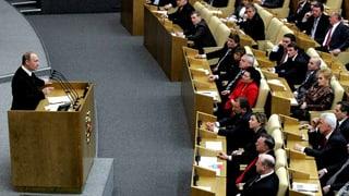 Wahlen in Russland: «Die Partei verspricht eines – nämlich Putin»