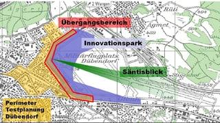 Flugplatz Dübendorf: Grosses Schaulaufen für den Innovationspark