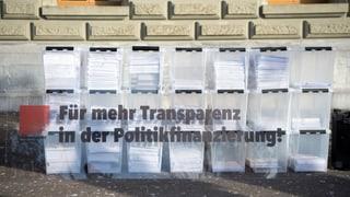 Cussegl federal di na a l'iniziativa da transparenza
