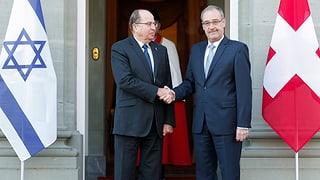 Parmelin empfängt Amtskollegen aus Israel mit «delikaten Punkten»