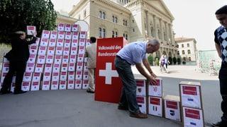 Alt Bundesräte weibeln für ein Nein zur Volkswahl