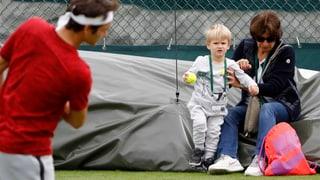 Federer-Zwillinge: Keiner zu klein, ein Balljunge zu sein