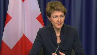 Sommaruga: «EU wird der Schweiz das Sturmgewehr nicht verbieten»