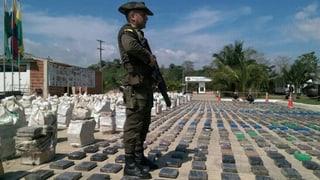 Rekordfund in Kolumbien: 8 Tonnen Kokain beschlagnahmt