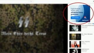 Schweizer Firmen werben neben Neo-Nazi-Videos