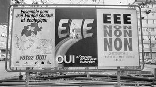 1992 war die Schweiz gar kein einig Volk