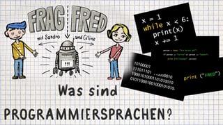 Video «Frag Fred: Was ist eine Programmiersprache? (5/6)» abspielen