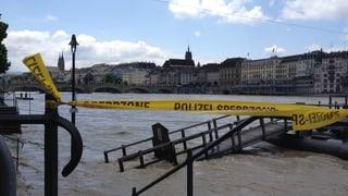 Entwarnung, Hochwasser im Rhein sinkt