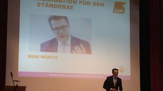CVP nominiert einstimmig Beni Würth