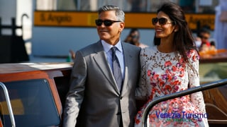 Verliebt in Venedig: Das Ehepaar Clooney zeigt sich erstmals