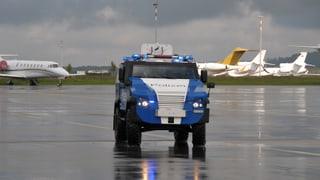 Die Polizei garantiert höchste Sicherheit am Flughafen Zürich