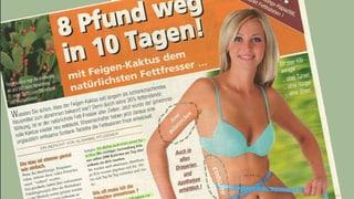 Werbung für Schlankheitspille verstiess gegen Heilmittelgesetz