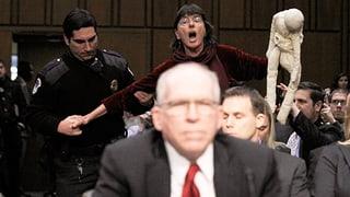 Kritik an Drohnenkrieg: Tumulte bei Anhörung für neuen CIA-Chef