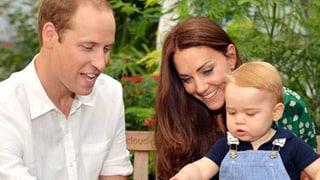 Georges Geburi: Stolze Eltern William und Kate sagen «Thank you»
