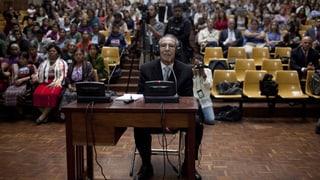 Guatemalas Ex-Diktator Montt drohen 75 Jahre Haft