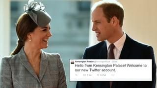Zwitschernde Royals: William und Kate entdecken Twitter