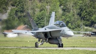 Schweizer F/A-18-Kampfjets bleiben vorübergehend am Boden