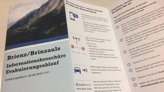 Preschentà plan d'evacuaziun bova da Brinzauls