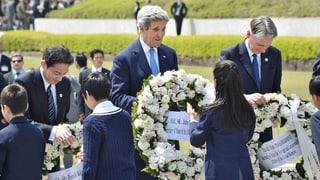 Historische Geste: Kerry besucht Hiroshima-Denkmal