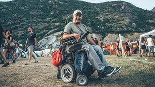 So ist ein Festival für einen Rollstuhlfahrer