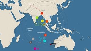 Infografik: Die Suche nach Flug MH370