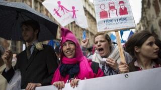 Franzosen demonstrieren erneut gegen Homo-Ehe