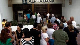 Griechenlands Banken bleiben tagelang zu