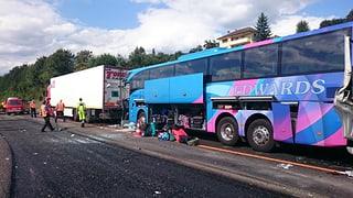 41 Verletzte bei Unfall auf Autobahn A2 bei Sursee
