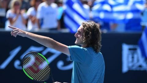 Federer gegen die griechische Wand (Artikel enthält Video)