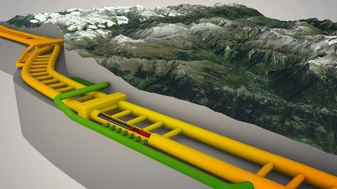 Gotthard-Grafik: 153 Kilometer Labyrinth