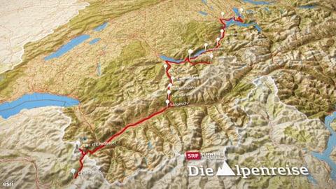 Alle Sendungen der Alpenreise