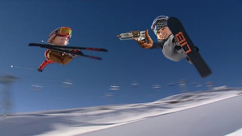 Laschar ir video «Snowboard e skis – tge è capità ord il cumbat?»