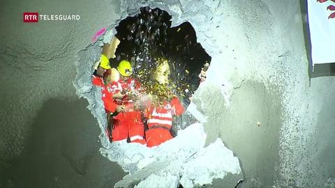 Il nov tunnel da l'Alvra è perfurà (Artitgel cuntegn video)