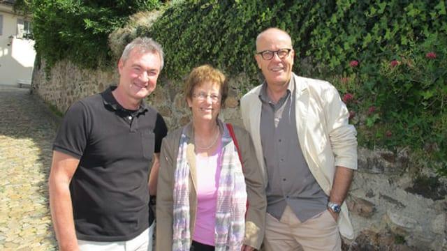 v.l.n.r. Gerry Thönen, Elsy Amsler, Daniel Hitzig