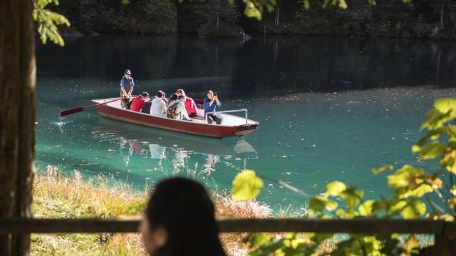 Die Idylle am Blausee trügt. Wegen Schadstoffen im Grundwasser verendeten Fische.