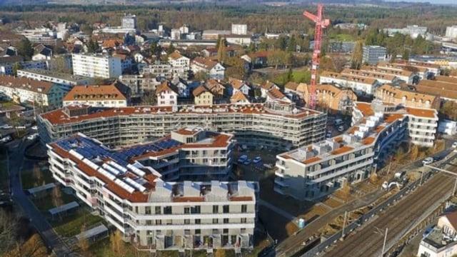 Das Quartier Stöckacker-Süd, als es im Bau war