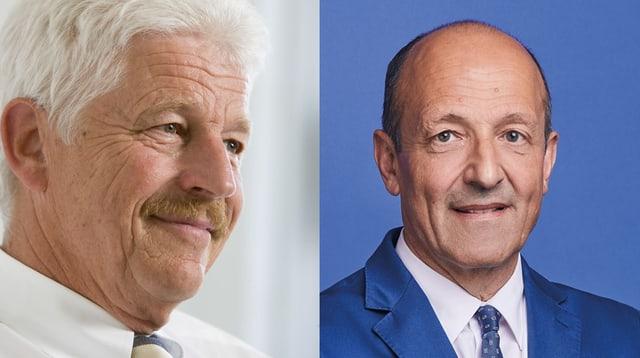 Benedikt Weibel ist für und Martin Kolb gegen das Hafenbecken 3.