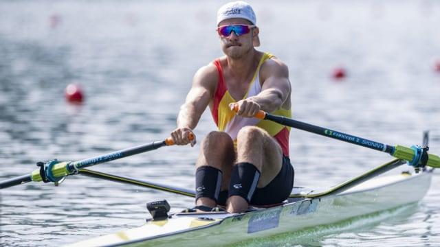 Roman Röösli holt auf dem Rotsee zwei Medaillen.