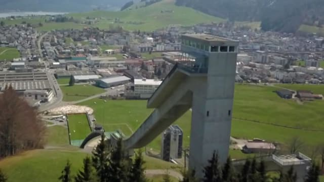 Die Skisprung-Anlage in Einsiedeln muss saniert werden.